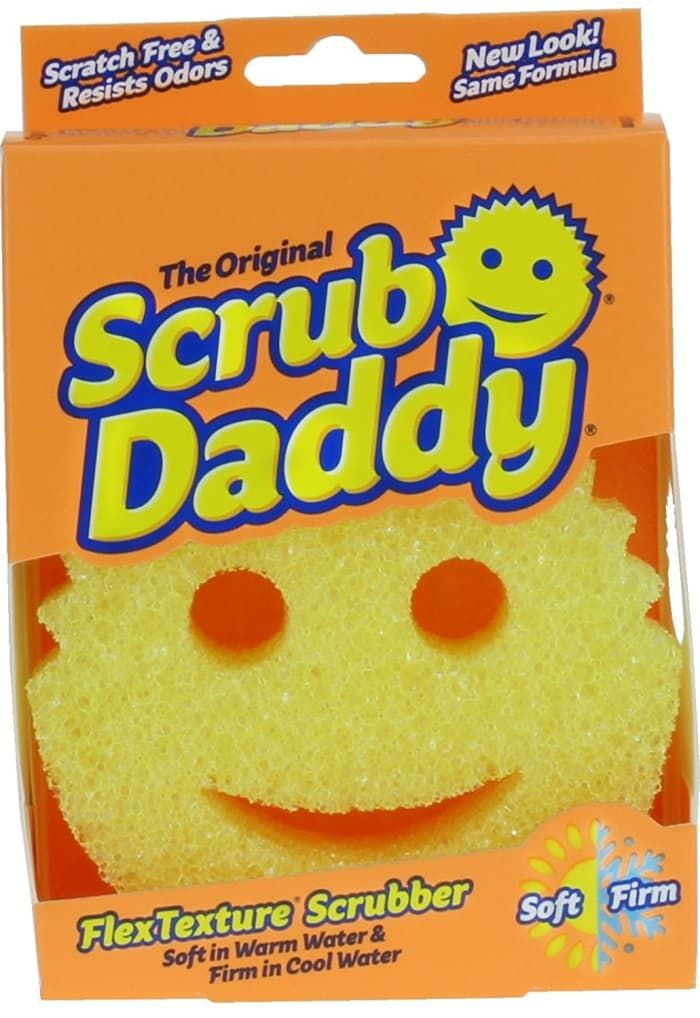"Promising Review: ""I saw the Scrub Daddy on Shark Tank and thought it was worth trying. Our family loves it! It does everything it guarantees to do. I use one for cleaning and washing vegetables, one for kitchen, and another for the bathroom. They last forever and you don't have left over food hanging on the sponge like with other products. I would highly recommend this product. Once you try you will not go back to using anything else."" —SuePrice: $7.98"