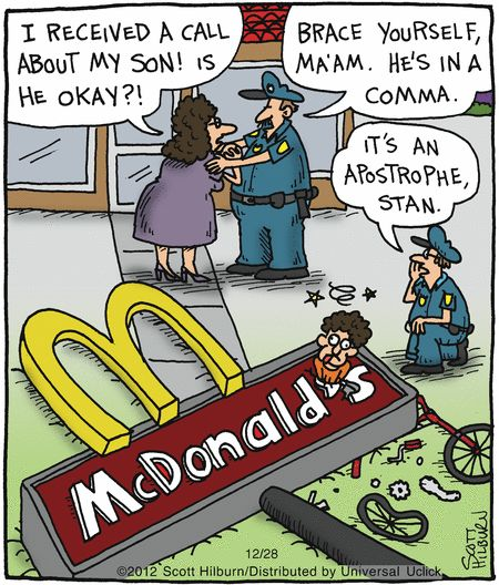 Brace yourself. He's in a comma. Argyle Sweater by Scott Hilburn http://www.theargylesweater.com/