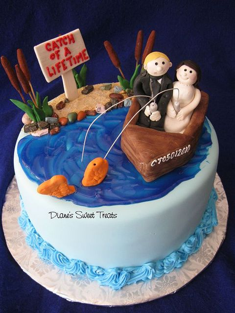 groom's cake - fishing  by Diane's Sweet Treats - (Diane Burke), via Flickr