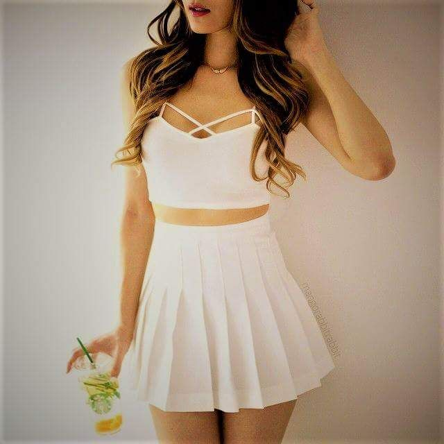 100 Chic Skirt Outfit Ideas To Copy Now Pleated Tennis Skirt Fashion Girl Outfits