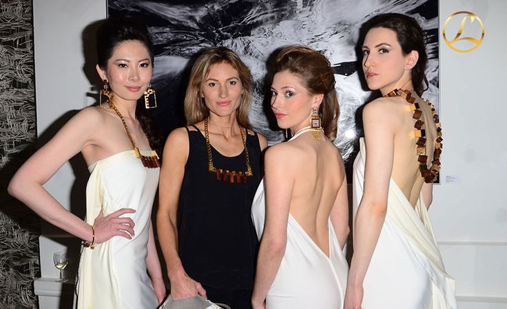 Loupe's Launch with Kim Melville-Smith (Innu dresses designer) and Loupe beautiful models in London.