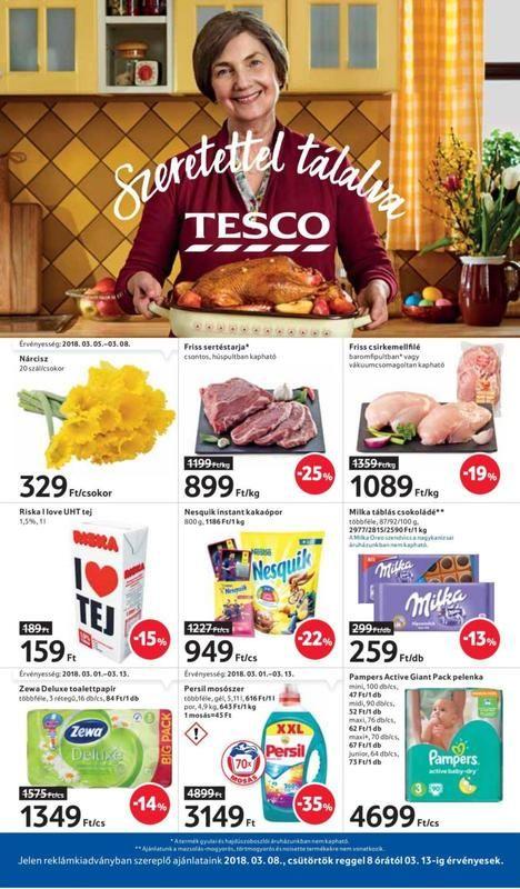 TESCO Akciós Újság 2018 03 08-03 13-ig - 01 oldal