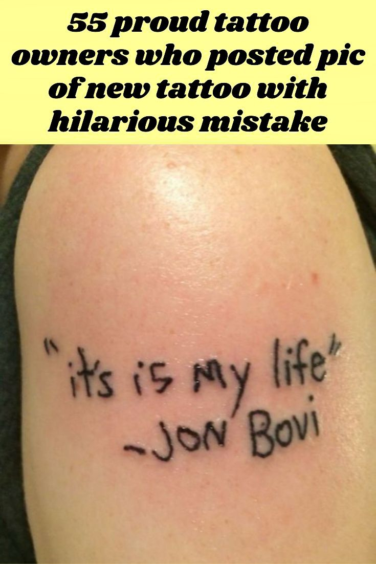 55 Proud Tattoo Owners Who Posted A Pic Of New Tattoo Only To Be Hilariously Called Out For Mistake Really Funny Memes Funny Facts Funny Fails