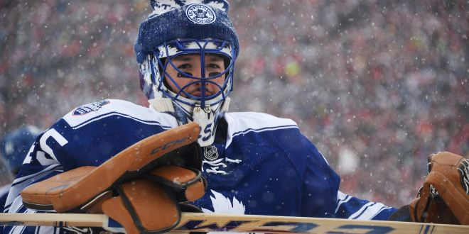 Previewing the NHL's Winter Classic (Jonathan Bernier, Toronto Maple Leafs, Winter Classic, Jamie Sabau, Getty Images)