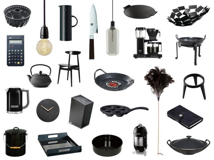 hier findest du eine liste mit sch nen haushaltswaren und accessoires in schwarz designobjekte. Black Bedroom Furniture Sets. Home Design Ideas
