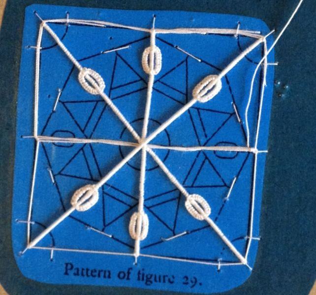 Reticello needle lace (Progress 1)