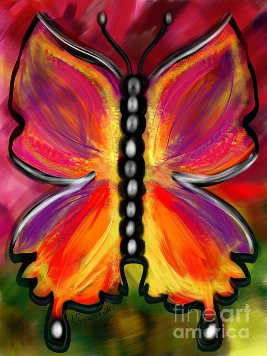 Rainbow butterfly by Christine Fournier