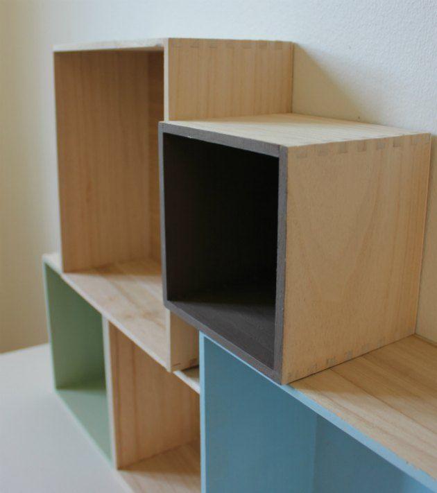 Trækasser malet med plus color - materialerne kan købes billigt i kreahobshop