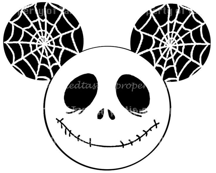 Jack Skeleton Mickey DIY Iron Printable Appliqué Disney Vacation Nightmare Before Christmas Mickey Mouse Shirt. $5.00, via Etsy.