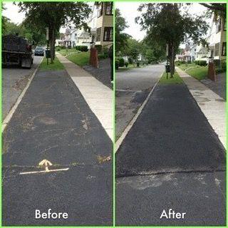 Driveway Apron Asphalt Repair #roc #paving #honeoyefallsny #avonny #limany #mendonny #mendonponds