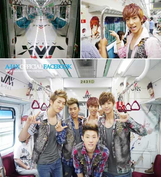 A-Jax Boards A-Jax Subway Train Car  #Mnet #Kpop #AJAX