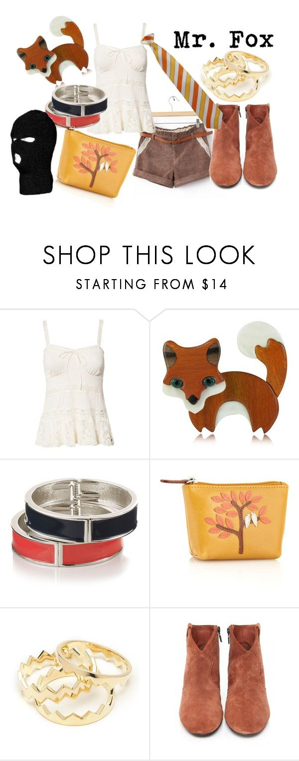 """Mr. Fox from Fantastic Mr. Fox"" by likeghostsinthesnow ❤ liked on Polyvore featuring Denim & Supply by Ralph Lauren, Les Néréides, Monsoon, Bailey & Quinn, Eddie Borgo, Ash, forest, movie, george clooney and character"