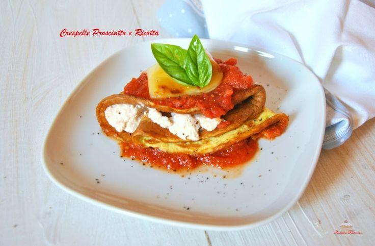 Sfiziose Crespelle Prosciutto e Ricotta, una ricetta buonissima e molto appagante, che offre la possibilità di gustare un ottimo primo light e low carb.