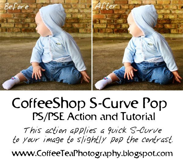 The CoffeeShop Blog: CoffeeShop Editing 101: S-Curve Pop PS/PSE Action and UnWrapped Tutorial!