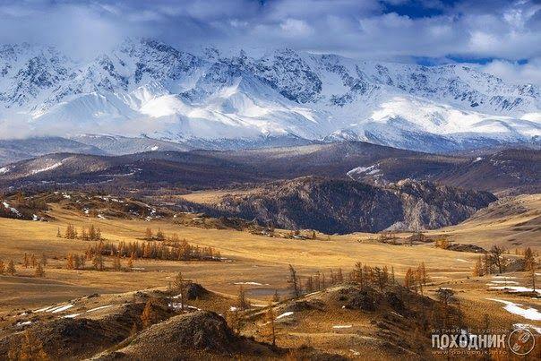 Курайская степь, Северо-чуйский хребет. Горный Алтай.