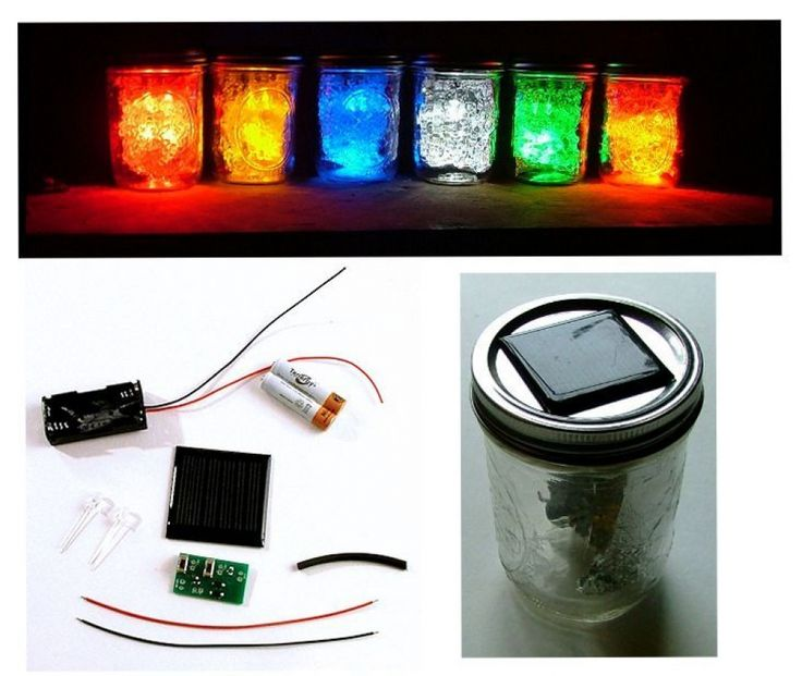 diy solar led jar light kit diy solar pinterest