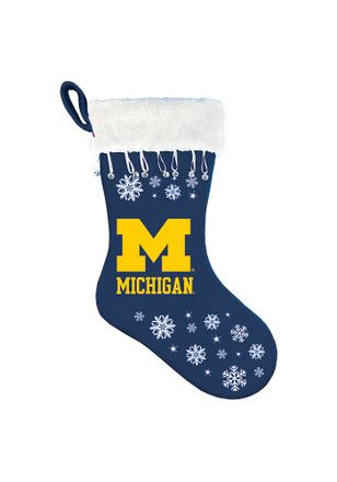 Michigan Wolverines Snowflake Stocking