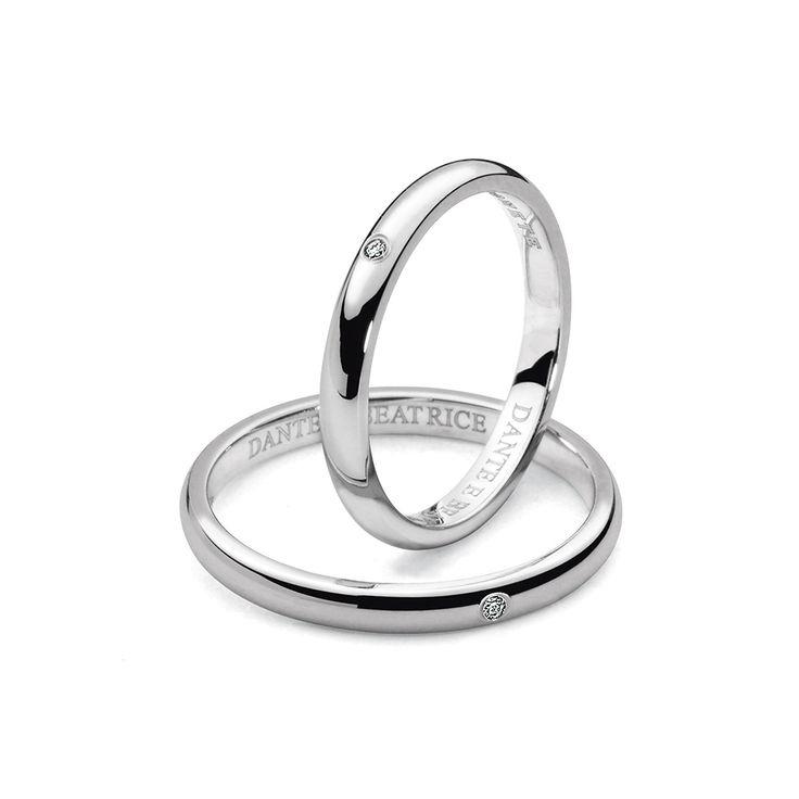 Sogni un #amore per sempre? Celebralo con gli #anelli della Collezione #Dante e #Beatrice!
