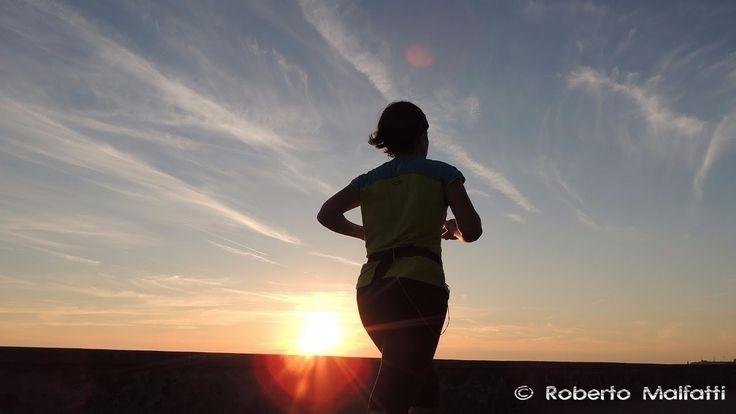 Girl running at sunset 9778 #sunset
