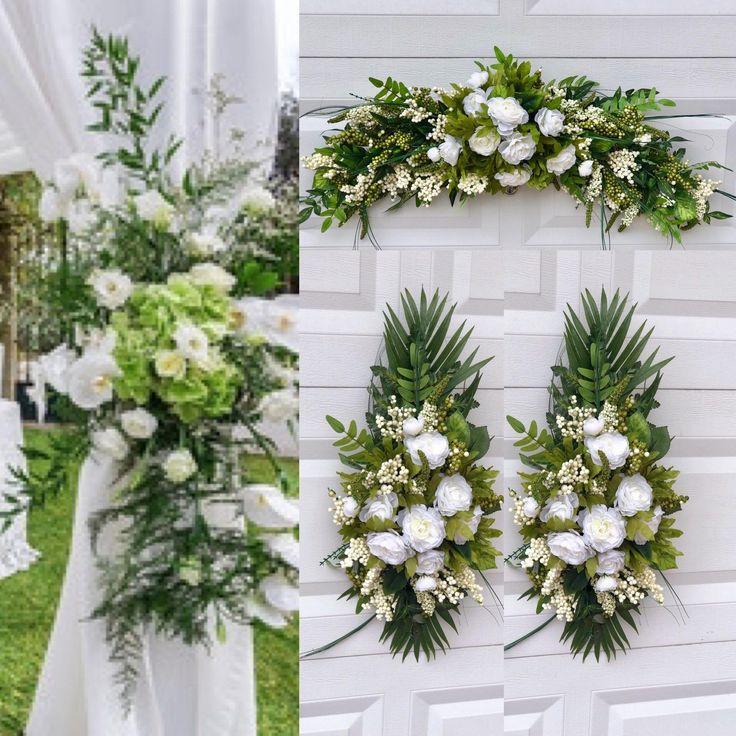 Wedding Arch Silk Arch Flowers Wedding Swag Chuppah Etsy