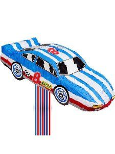 Race Car Pinata (each) by Ya Otta Pinata. $10.08. Size: 22 L x 8 W; includes 20 pull-strings.. Your party is sure to be a hit when you add one of these race car pull-string style pinatas to your decorations! Hang your race car pinata from the ceiling or set it on a table to add color to the party area, then use it as an activity later in the party. Ages 3 and up.. Save 69% Off!