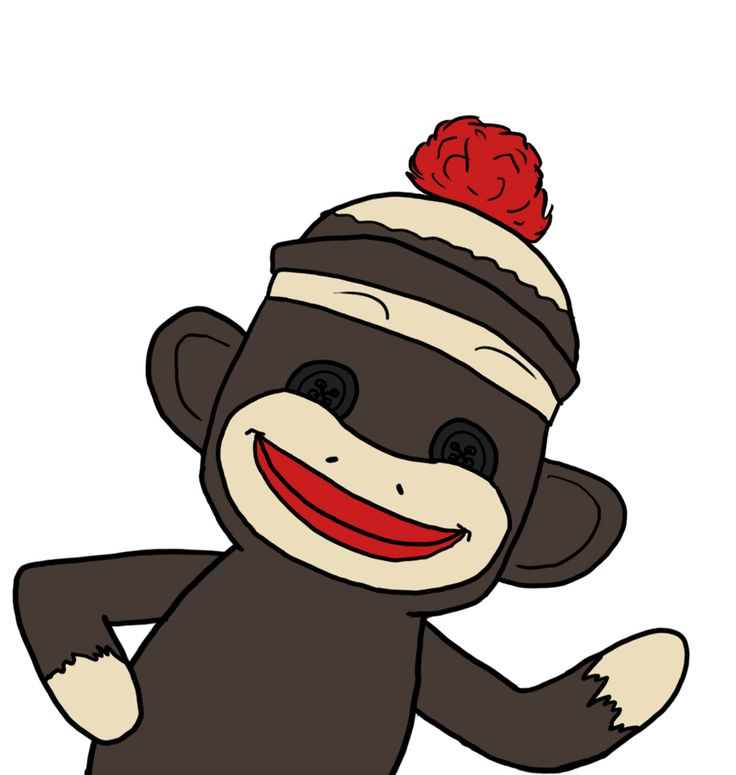 48 best sock monkey images on pinterest sock monkeys sock monkey rh pinterest com Sock Monkey Clip Art Black and White free printable sock monkey clip art