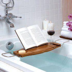 awesome: Bathtubs Caddy, Ideas, Bath Caddy, Bathtime, Book, Bubbles Bath, Bathroom, Wine Glasses, Bath Time