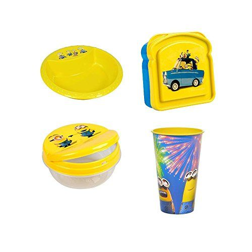 Despicable Me Minions Set with Bowl @ niftywarehouse.com #NiftyWarehouse #DespicableMe #Movie #Minions #Movies #Minion #Animated #Kids