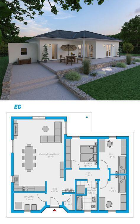 Plana 110 – schlüsselfertiges Massivhaus #spektralhaus #ingutenwänden #Bungalo… – Lsris