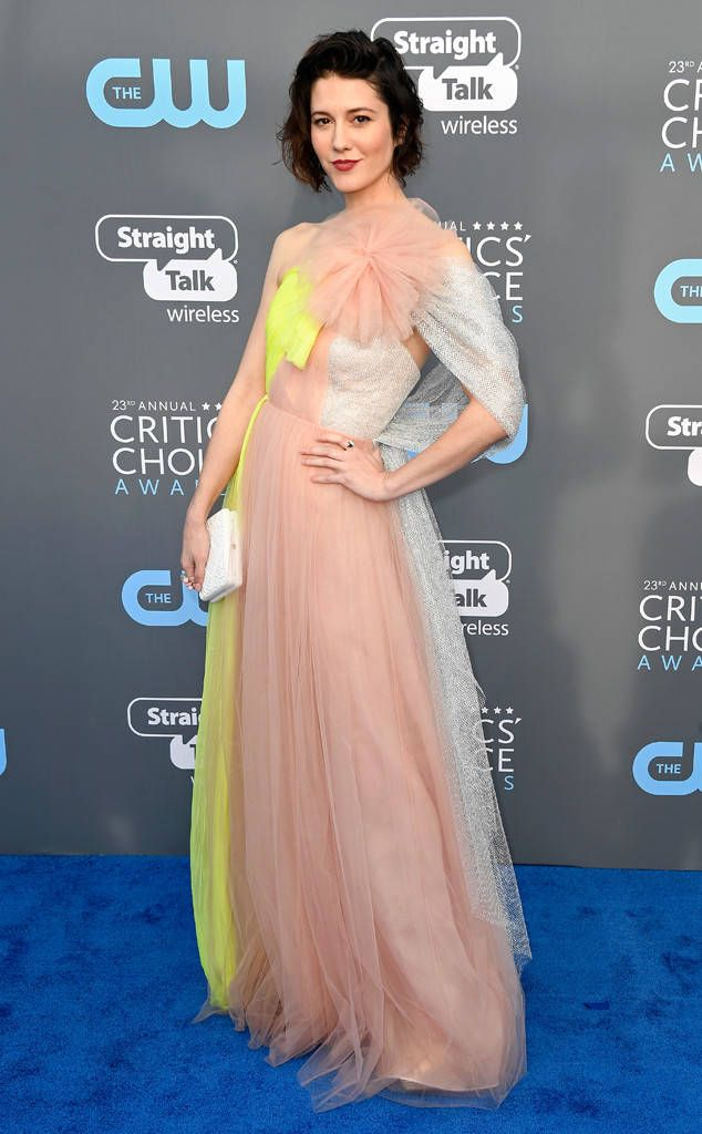 Mary Elizabeth Winstead: 2018 Critics' Choice Awards Red Carpet Fashion