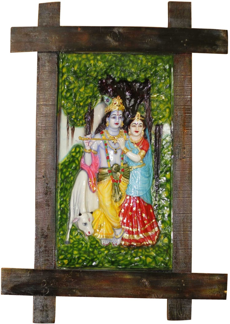 The epic love story of Radha Krishna captured in a frame, only for your interiors.    Get more details on: http://www.gloob.in/sculptures/radha-krishna-in-frame.html