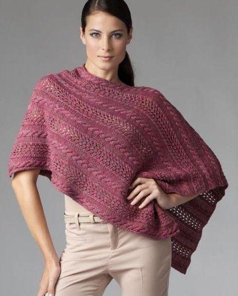 Asymmetric Poncho Free Knitting Pattern and more free knitting pattern for ponchos