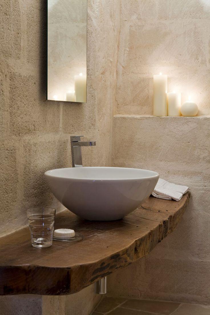 Las 25 mejores ideas sobre paredes de piedra en pinterest - Lavabos de piedra rusticos ...