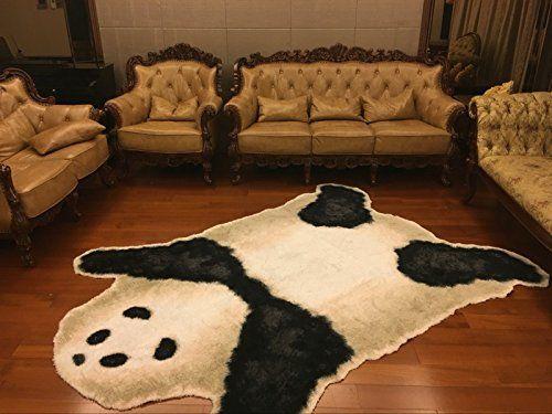 Amazon.com: Kids Panda Bear Playmat Animal Panda Rug For Children Bedroom  Playroom Living