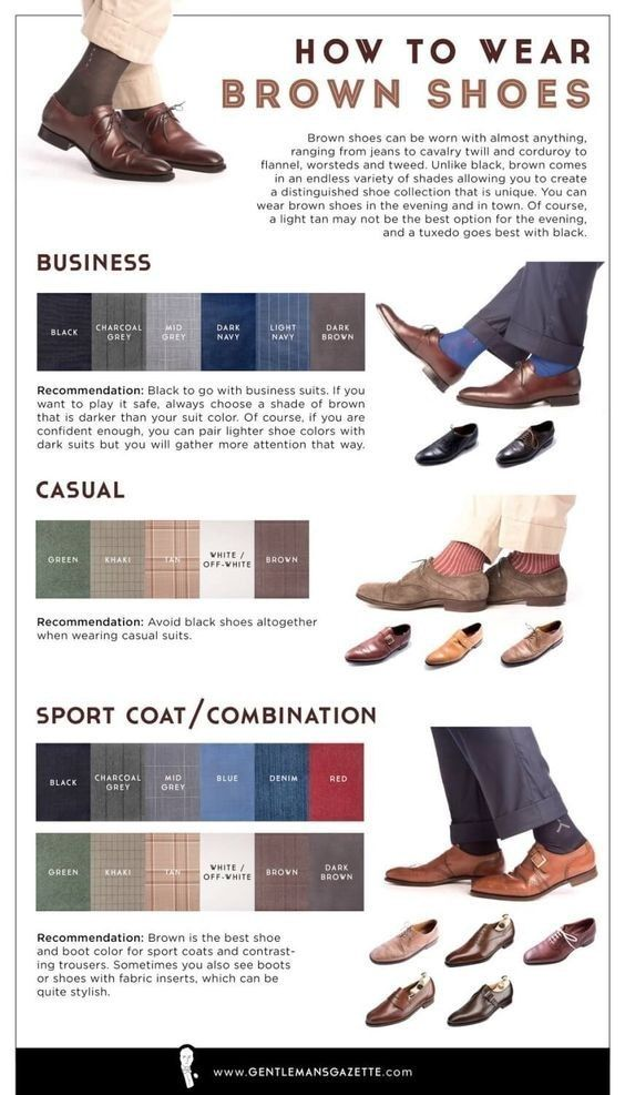 Save this if you need tips specifically for brown shoes: