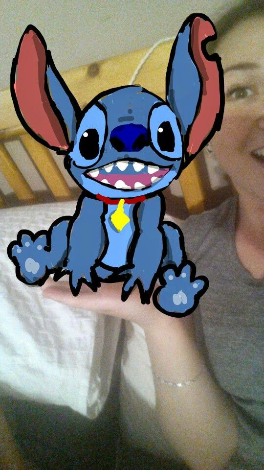 My first Snapchat drawing ever. Lilo and stich