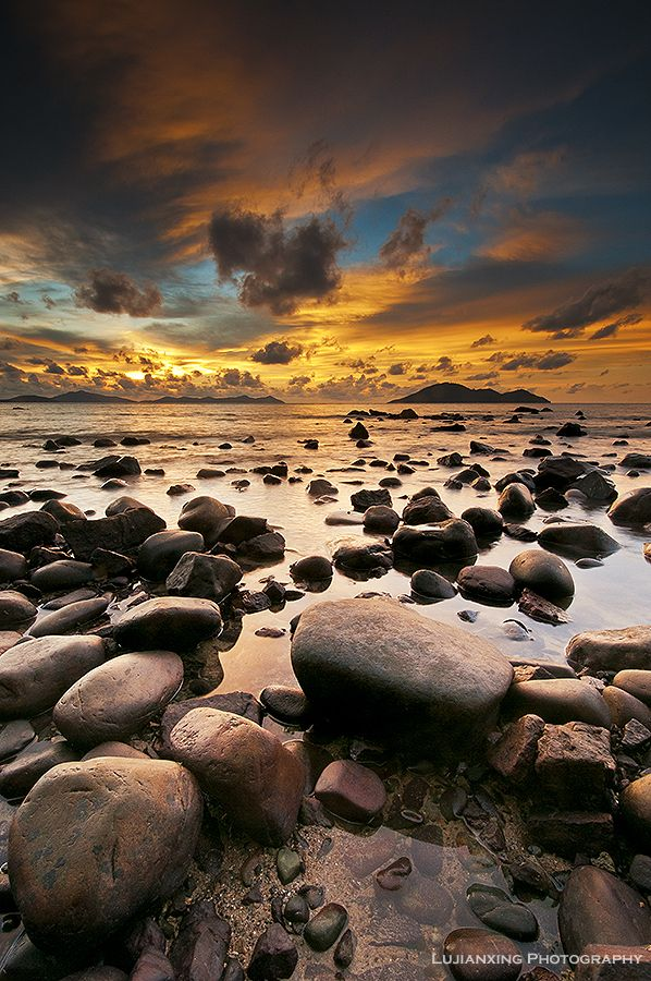 """Sunset at Pulau Kabung"" by ludy lujianxing, via 500px"