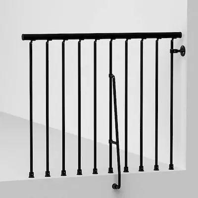 Best Arke Civik 3 9 Ft Black Painted Balcony Rail Kit At Lowes 400 x 300