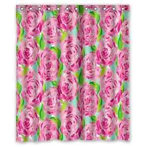Rose Lilly Pulitzer Pattern Waterproof Shower Curtain In Home U0026 Garden, Bath,  Shower Curtains