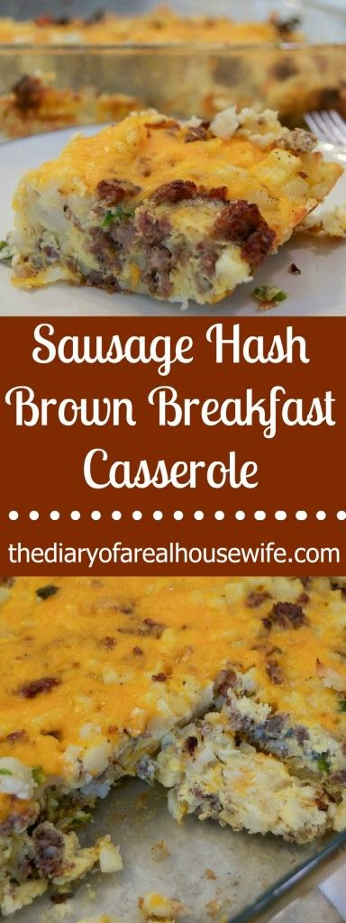 Sausage Hash Brown Breakfast Casserole. This is one of my favorite breakfast casserole recipes. It really is the classic and so good. My family even ate the leftovers for lunch they loved it that much.