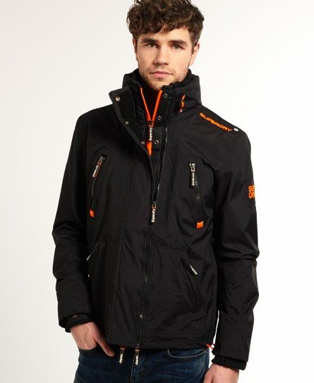 Shop Superdry Mens Wind Attacker Jacket in Black/fluro Orange. Buy now with  free delivery from the Official Superdry Store.