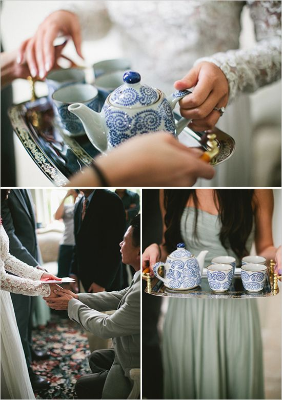 tea ceremony, infuse your wedding with your culture  Image by Meg Ruth Photo