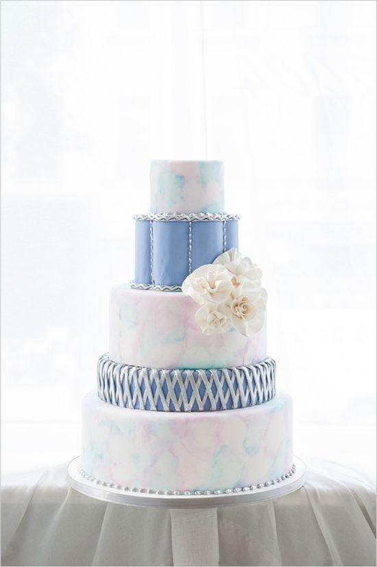 Watercolor wedding cake #dessert #cakes #watercolor #weddingcake #weddingideas