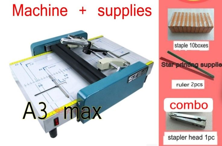 324.57$  Watch now - http://ali0wt.shopchina.info/1/go.php?t=32808148502 - 2017 New Saddle and Flat Booklet Maker Stapler Machine A3 size Pamphlet Paper folding machine 2 in 1  #magazine