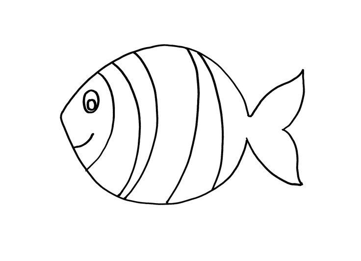 kleurplaat vis