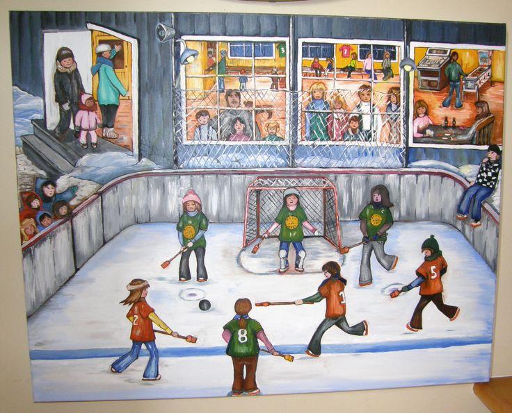 Souvenir d'enfance. A la cabane du patinoire.