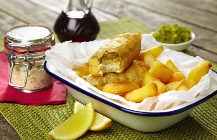 This is a modern take on Britain's original street food, fish and chips. Our Tofu and Chips recipe combines crispy batter with light soft tofu, brought together with capers and gherkins.