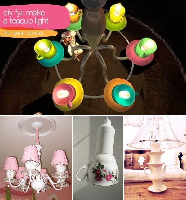 4 Great Teacup Lamp Tutorials Ideas I Love Pinterest Teacup Tutorials And Lights