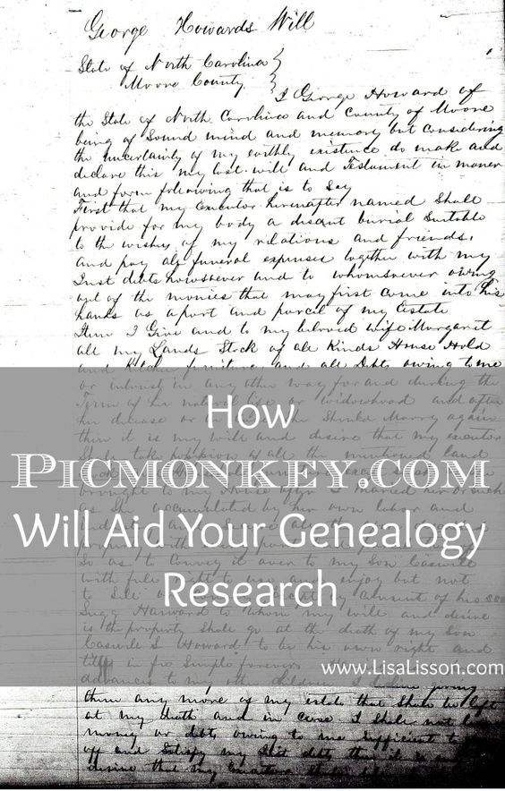 PicMonkey is a free online photo editing site. Using it to edit images of historical records and making them easier to read is so helpful!. With photo editing, the document can be cropped, highlighted, sharpened, enlarged….Many possibilities exist to make your genealogy document more easily read.: