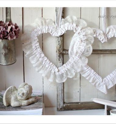Szív alakú csipke koszorúk és befőttes üveg szoknyák csipkéből / Mindy -  kreatív ötletek és dekorációk minden napra
